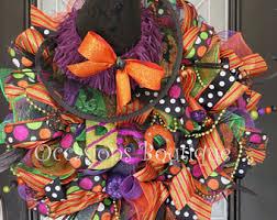 halloween wreath etsy
