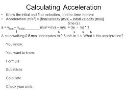 calculating speed time distance and acceleration worksheet answers