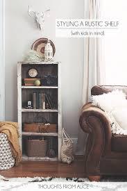 Bookshelf Styling Rustic Bookshelf Styling Jennifer Rizzo