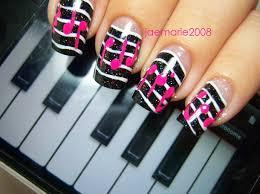 music theme nail art design idea