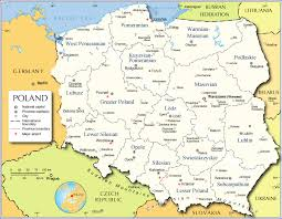 map of administrative map of poland nations project