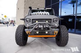2016 sema starwood custom gray orange jeep jk wrangler unlimited