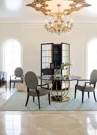 we love this dramatic but refined bernhardt jet set round dining
