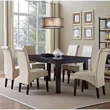 light brown wood dining room sets kitchen dining room avalon 7 piece satin cream dining set