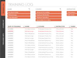 excel training log template exol gbabogados co