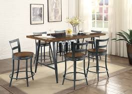 dining room dining room counter black high top dining set tall