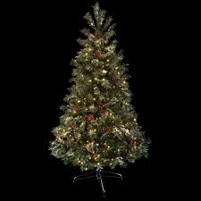 festive 6ft green pine prelit snow artificial christmas tree