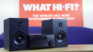 d home theater system denon d m40dab stereo micro system review youtube