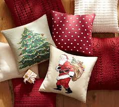 Christmas Pillows Pottery Barn Painted Tree Pillow Cover Pottery Barn