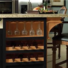 kitchen island wine rack wooden stemware rack for wine glasses in maple by hafele