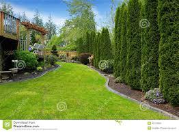 beatiful backyard landscape stock photo image 42724909