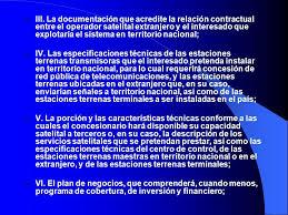 imagenes satelitales caracteristicas de las concesiones sobre señales de satélites extranjeros en méxico