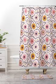 Suzani Curtain Suzani Pink Shower Curtain And Mat Holli Zollinger