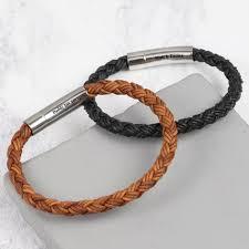 men braided leather bracelet images Men 39 s engraved rustic braided leather bracelet lisa angel jpg