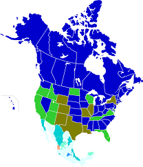 Us And Mexico Map Ages Of Consent In North America Wikipedia