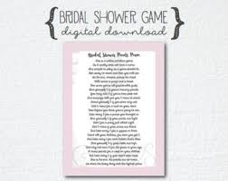 bridal shower gift poems creative bridal shower gift basket household items story
