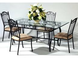 Rod Iron Dining Room Set Wrought Iron Dining Room Table Jcemeralds Co