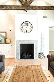 fireplace surround wood best tile ideas tiled remodel white doors