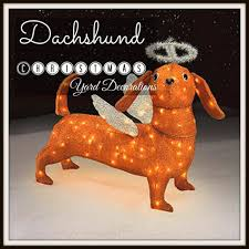 wiener up your yard with a dachshund christmas yard decora tion