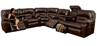 Buy Recliner Sofa Dakota 596 Reclining Sectional In Smokey Sofas And Sectionals