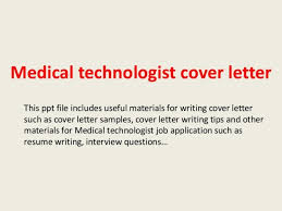 medical technologist cover letter collection of solutions sample
