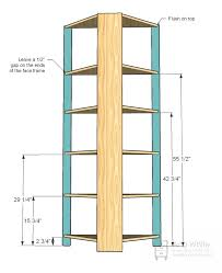 Corner Bookcase Plans Free White Build A Corner Cupboard Free And Easy Diy Project