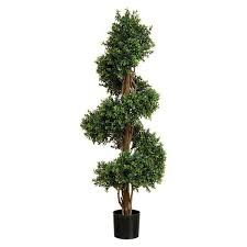 artificial topiary boxwood spiral tree 152cm 5ft real looking