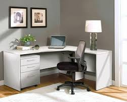 White L Shaped Desk Modern L Shaped Desk With Mobile File In White Office