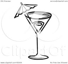 martini glasses clinking royalty free rf clipart illustration of a black and white