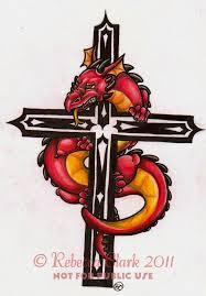 tattoo cross dragon dragon and cross tattoo by insaneroman on deviantart