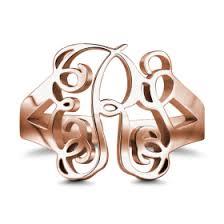 Custom Monogram Rings Monogram Rings Rings