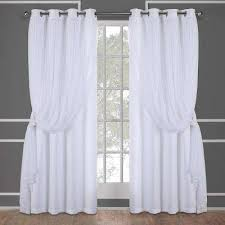Winter Window Curtains Winter White Curtains Drapes Window Treatments The Home Depot