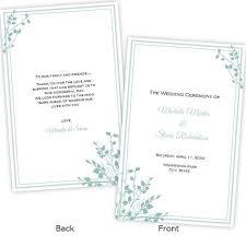 folded wedding program template 52 best wedding program templates diy images on