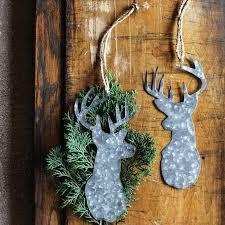 tin deer ornaments set of 4 antique farmhouse