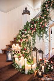Wedding Home Decoration Garland And Candles On Stairs Garlands Photography And Wedding