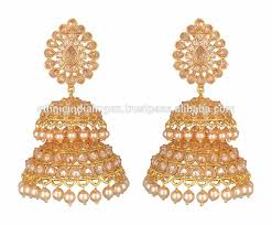 big jhumka gold earrings big gold tone jhumka dangler earrings buy gold