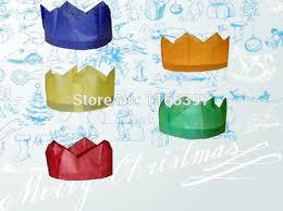 free ship wholesale 144pc tissue paper crown cap cracker