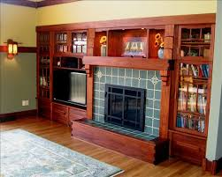 Arts And Crafts Interior Craftsman Fireplace This Gorgeous Built In Shelving And