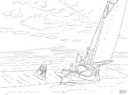 ground swell by edward hopper coloring page free printable