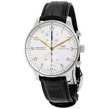watches chronograph iwc portuguese chronograph silver s 3714 45