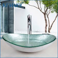 popular glass sink bathroom buy cheap glass sink bathroom lots