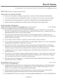bunch ideas of sample cover letters for employment specialist for