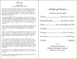 funeral program wording 7 funeral program wordingagenda template sle agenda template