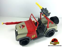 red toy jeep toybox soapbox past plastic kenner jurassic park
