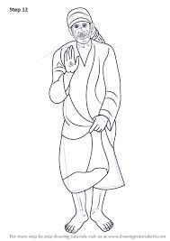how to draw coloring pages learn how to draw sai baba of shirdi hinduism step by step