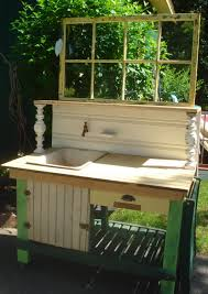 Inexpensive Potting Bench by Potting Bench W Porcelain Enamel Antique By Celestialrecreations