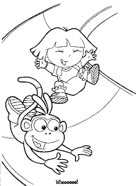 coloring pages dora boots coloring