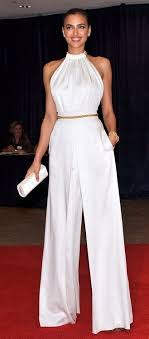 white and gold jumpsuit high waist pant halter top belt colors white gold