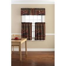 kitchen curtains cozy cabin valance 10 woodland cabin valance mainstays tahoe cabin printed jpg