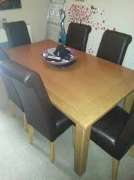 Dining Room Chair Dimensions by Chair Extendable Dining Table 6 Chairs Ebay Solid Wood Le Dining